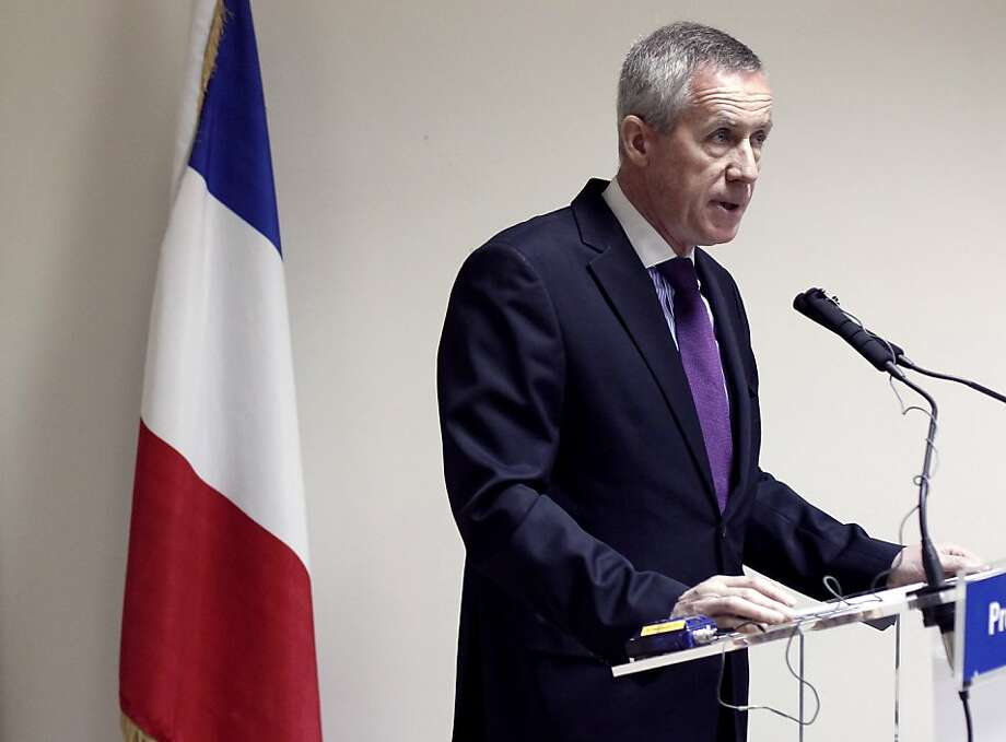 Paris' top anti-terror magistrate François Molins speaks during a press conference focused on last week's raids in several French cities on suspected Islamist networks, on April 3, 2012 at the Paris courthouse. Molins announced today he would seek terror charges against 13 of the 19 alleged Islamic militants arrested on March 30, 2012 as the period they can be held without charge expired. Molins alleged that some of those arrested had been planning to kidnap an investigating magistrate but that they had not begun to carry out their plan. Photo: Thomas Coex, AFP/Getty Images