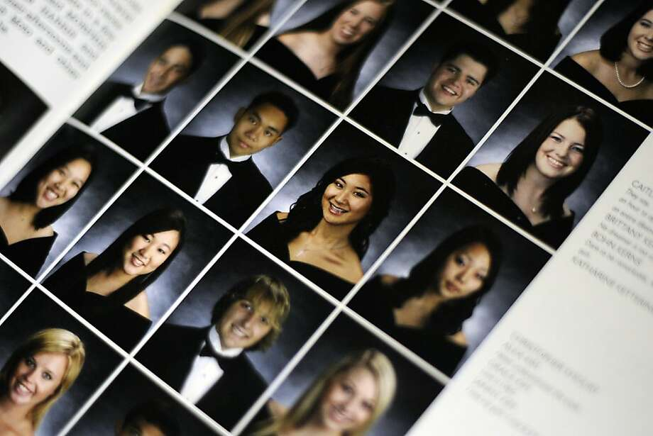 Oikos University victim Grace Kim(in focus) is seen in her Foothill High School class of 2007 year book in Pleasanton CA Monday March 3rd, 2012 Photo: Michael Short, Special To The Chronicle