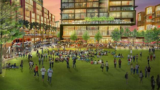 The San Francisco Giants announced their development plans for seawall lot 337.  In the heart of the project, surrounded and animated by buildings, restaurants, shops and cafes, is an urban-style square that will serve as the community's outdoor living room.  Mission Rock Square is designed to be reminiscent of New York's Bryant Park and other truly great urban open spaces around the world.  Mission Rock Square will be home to special events and festivals and will be the ideal place for workers, residents and visitors to hang out at lunch, after work, and on weekends.