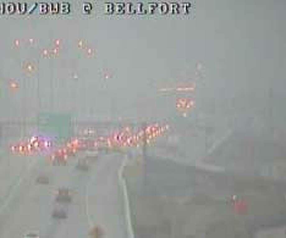 Drivers navigate the Sam Houston Tollway on Wednesday morning. (Houston Transtar)