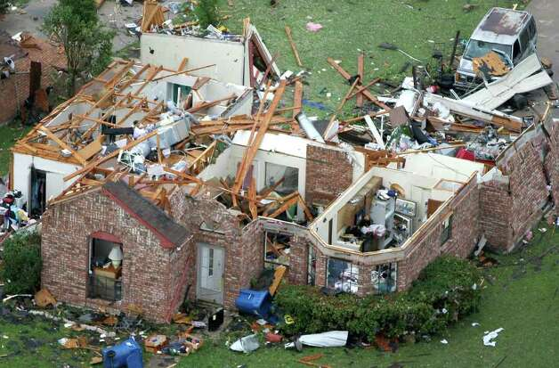 A home was destroyed by a tornado that hit Kennedale, Texas, on Tuesday, April 3, 2012. (Khampha Bouaphanh/Fort Worth Star-Telegram/MCT) Photo: Khampha Bouaphanh, MBR / Fort Worth Star-Telegram