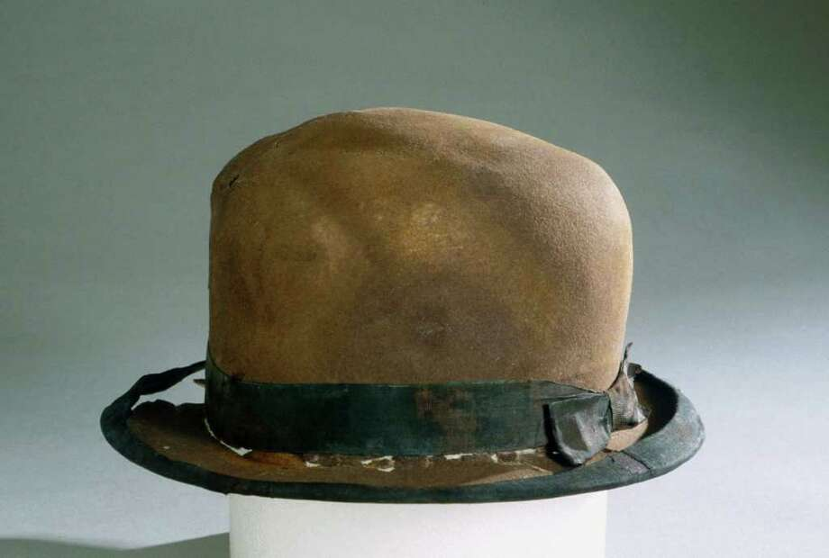 This August 16, 2011 image provided by RMS  Titanic, Inc. shows a hat from the RMS Titanic which was recovered from the ocean floor during an expedition to the site of the tradegy.  The piece along with 5,000 other artifacts will be auctioned as a single collection on April 11, 2012 100 years after the sinking of the ship. Photo: Anonymous, AP / Copyright 2012 The Associated Press. All rights reserved. This m
