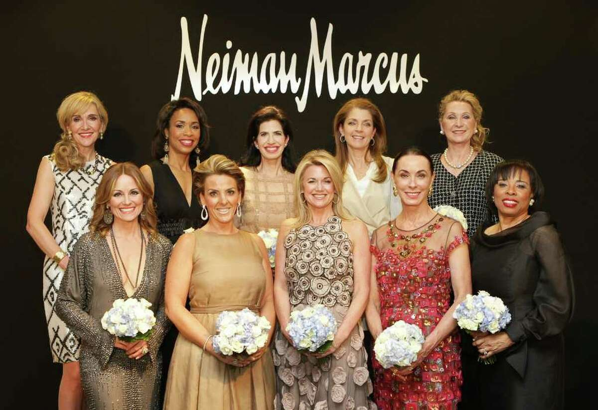 The Houston Chronicle's 2012 Best Dressed honorees: Front row, from left: Lucinda Loya, Mary Tere Perusquia, Millette Sherman, Sue Smith and Phyllis Williams. Back row, from left: Jana Arnoldy, Gina Gaston Elie, Dr. Kelli Cohen Fein, Paige Fertitta, and Carol Linn.