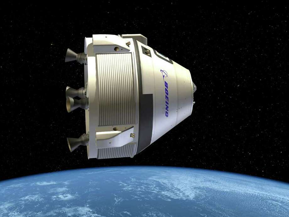 Boeing's Crew Space Transportation (CST)-100 shown in space in this artist's depiction. Photo: Boeing