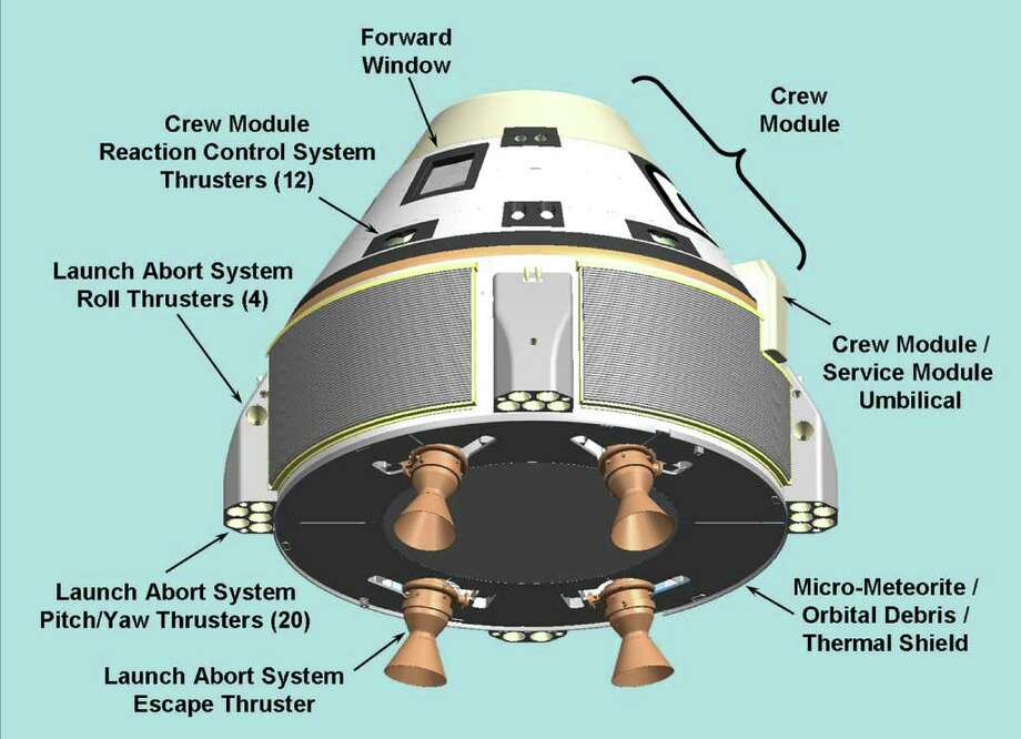 A view of Boeing's Crew Space Transportation (CST)-100 system, showing various features. Photo: Boeing