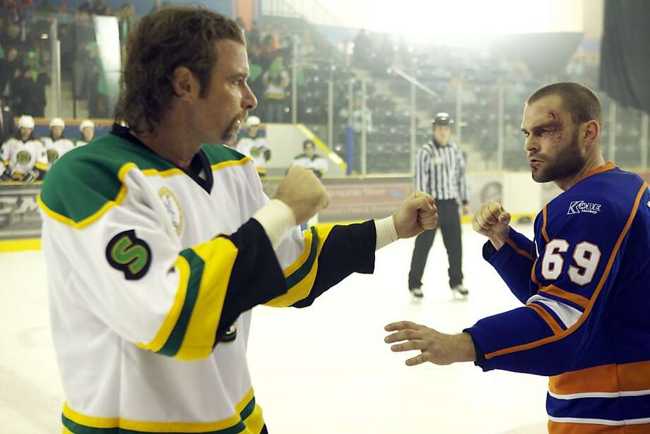 "In this film image released by Magnolia Pictures, Liev Schreiber, left, and Seann William Scott are shown in a scene from ""Goon.""  (AP Photo/Magnolia Pictures) Photo: Associated Press"