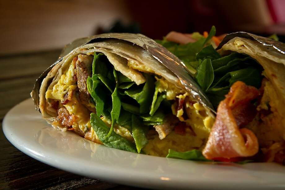 The Breakfast Burrito at the Beachside Coffee Bar in San Francisco, Calif. is seen on March 29th, 2012. Photo: John Storey, Special To The Chronicle