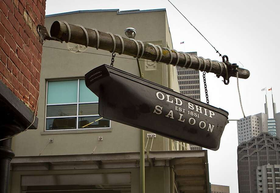 The exterior of the Old Ship Saloon, which sits on the edge of the Financial District, gives a hint as to the establishment's nautical roots. Photo: John Storey
