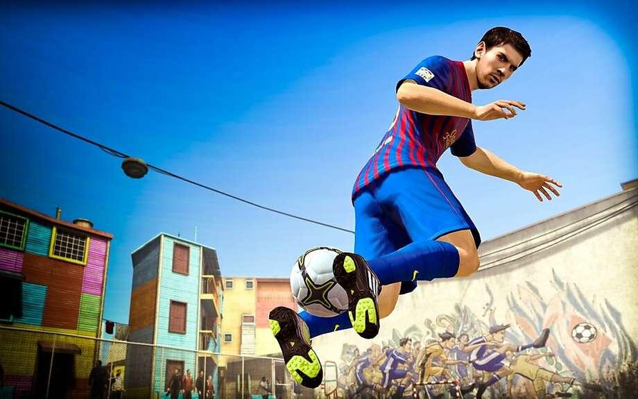 """Lionel Messi in """"FIFA Street"""" Photo: EA Canada"""