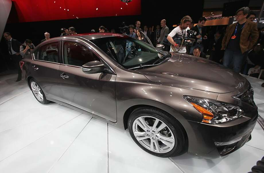 NEW YORK, NY - APRIL 04:  The new 2013 Nissan Altima is displayed at the New York International Auto Show at the Jacob Javits Convention Center on April 4, 2012 in New York City. The New York International Auto Show features nearly 1,000 brand new vehicles from all auto industry sectors and is open to the public April 6-15.  (Photo by Mario Tama/Getty Images) Photo: Mario Tama, Getty Images
