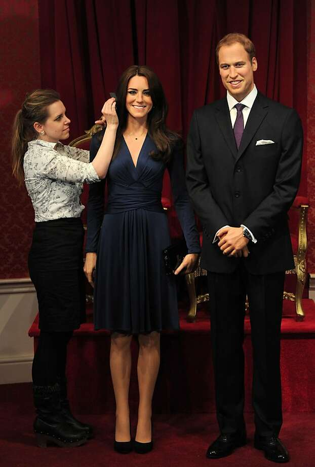 Can't wait for Pippa!Shout-out to Madame Tussauds in London for the waxwork's latest additions, Kate and William. The Duchess of Cambridge looks especially life-like. Madame was generous with Wills' hair. Photo: Carl Court, AFP/Getty Images