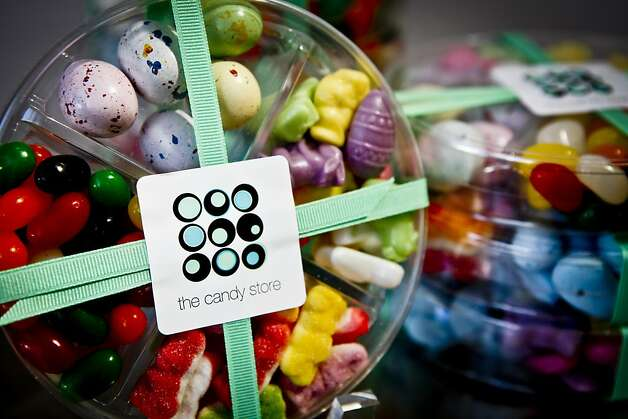 A display of The Candy Store's Easter Box of Four is seen in a jar in The Candy Store on Friday, March 26, 2010.  Diane and Brian Campbell own and operate The Candy Store on San Francisco's Russian Hill. Photo: Russell Yip, The Chronicle