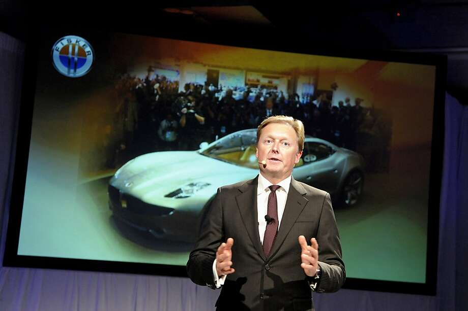 Henrik Fisker, co-founder and chairman of Fisker Automotive Inc., speaks before introducing the company's new plug-in hybrid vehicle, the Atlantic, during a preview in New York, U.S., on Tuesday, April 3, 2012. Fisker Automotive Inc., maker of plug-in luxury cars, is preparing to build a second rechargeable model as it fixes glitches and boosts deliveries of its $103,000 Karma sedan. Photographer: Peter Foley/Bloomberg *** Local Caption *** Henrik Fisker Photo: Peter Foley, Bloomberg
