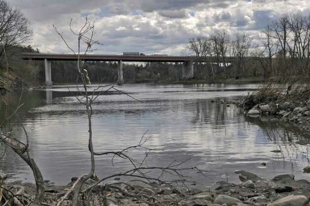 View from the Schoharie Creek of the Thruway bridge, which collapsed 25 years ago,  on Wednesday April 4, 2012 in Fort Hunter, NY.  (Philip Kamrass / Times Union ) Photo: Philip Kamrass / 00017099A
