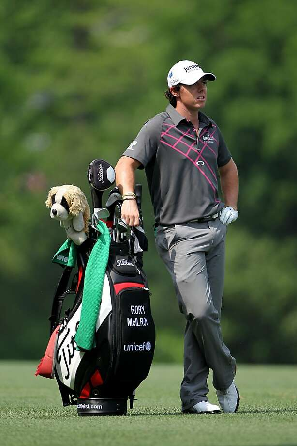 AUGUSTA, GA - APRIL 03: Rory McIlroy of Northern Ireland stands alongside his bag during a practice round prior to the start of the 2012 Masters Tournament at Augusta National Golf Club on April 3, 2012 in Augusta, Georgia.  (Photo by Jamie Squire/Getty Images) Photo: Jamie Squire, Getty Images