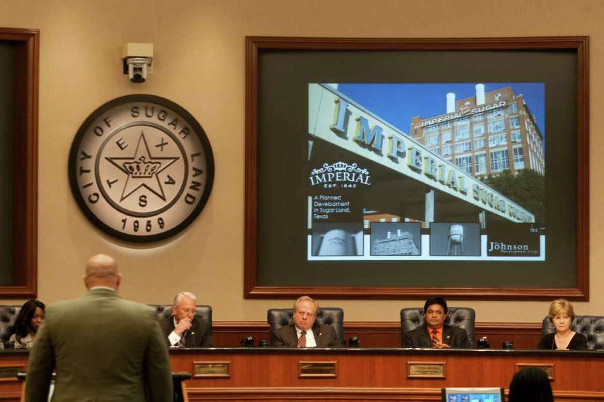City Council tentatively approved the Imperial Sugar factory development on Tuesday, but more than 2,000 residents have signed a petition opposing part of the plan, which includes new apartments.