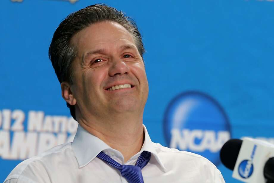 NEW ORLEANS, LA - APRIL 02:  Head coach John Calipari of the Kentucky Wildcats smiles during the post game news conference after the Wildcats 67-59 victory against the Kansas Jayhawks in the National Championship Game of the 2012 NCAA Division I Men's Basketball Tournament at the Mercedes-Benz Superdome on April 2, 2012 in New Orleans, Louisiana.  (Photo by Jeff Gross/Getty Images) Photo: Jeff Gross, Getty Images