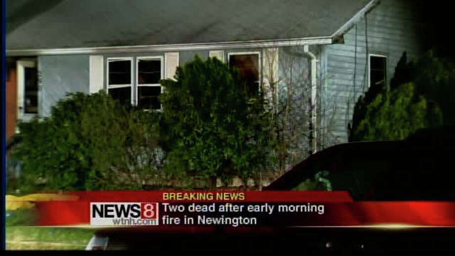 Newington officials say an early morning house fire has killed two people. Firefighters responded to the home on Vineyard Avenue shortly before 2 a.m. Thursday and found the two people inside. They were later pronounced dead at a local hospital. Photo: WTNH