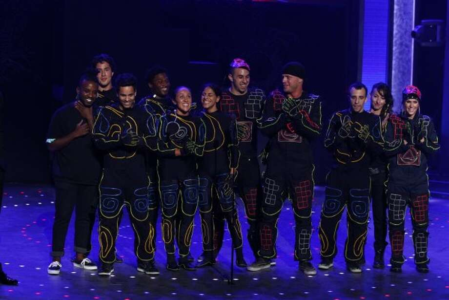 Miral Kotb of Clear Lake (Center, 6th from the right): America's Got Talent, Season 6 (2011) (© NBCUniversal, Inc.)