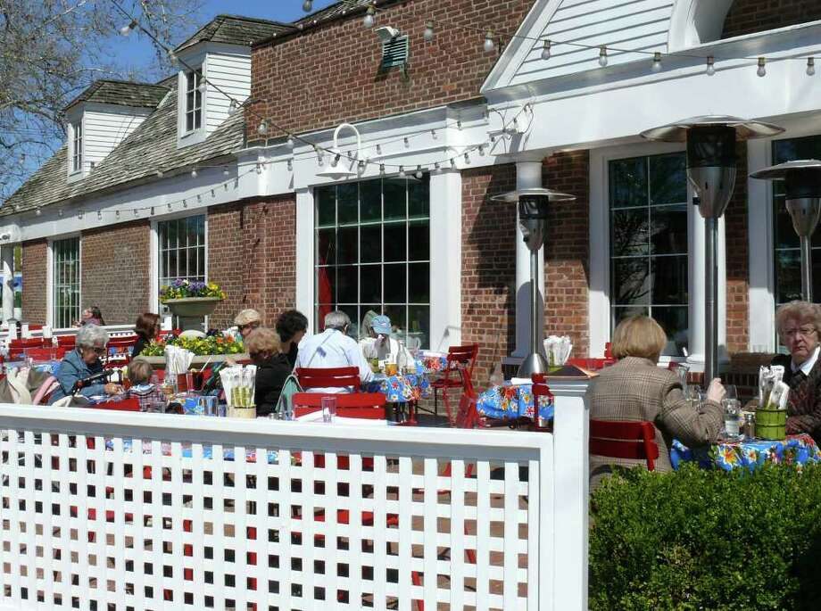Restaurants, like Centro, are taking full advantage of a zoning decision to allow outdoor dining to commence a month earlier than in the past. Photo: Genevieve Reilly / Fairfield Citizen