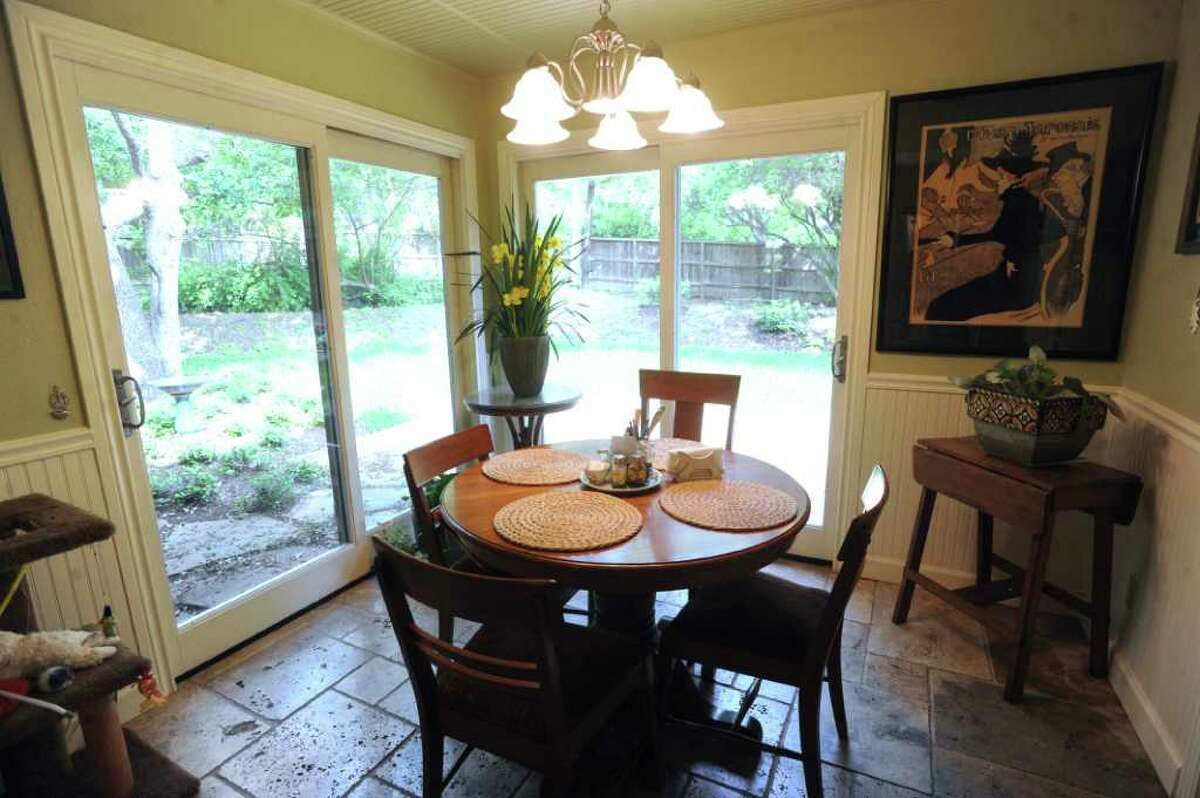 The breakfast nook in the home of Margaret Mitchell and Doug Endsley. April 3, 2012. Billy Calzada / San Antonio Express-News