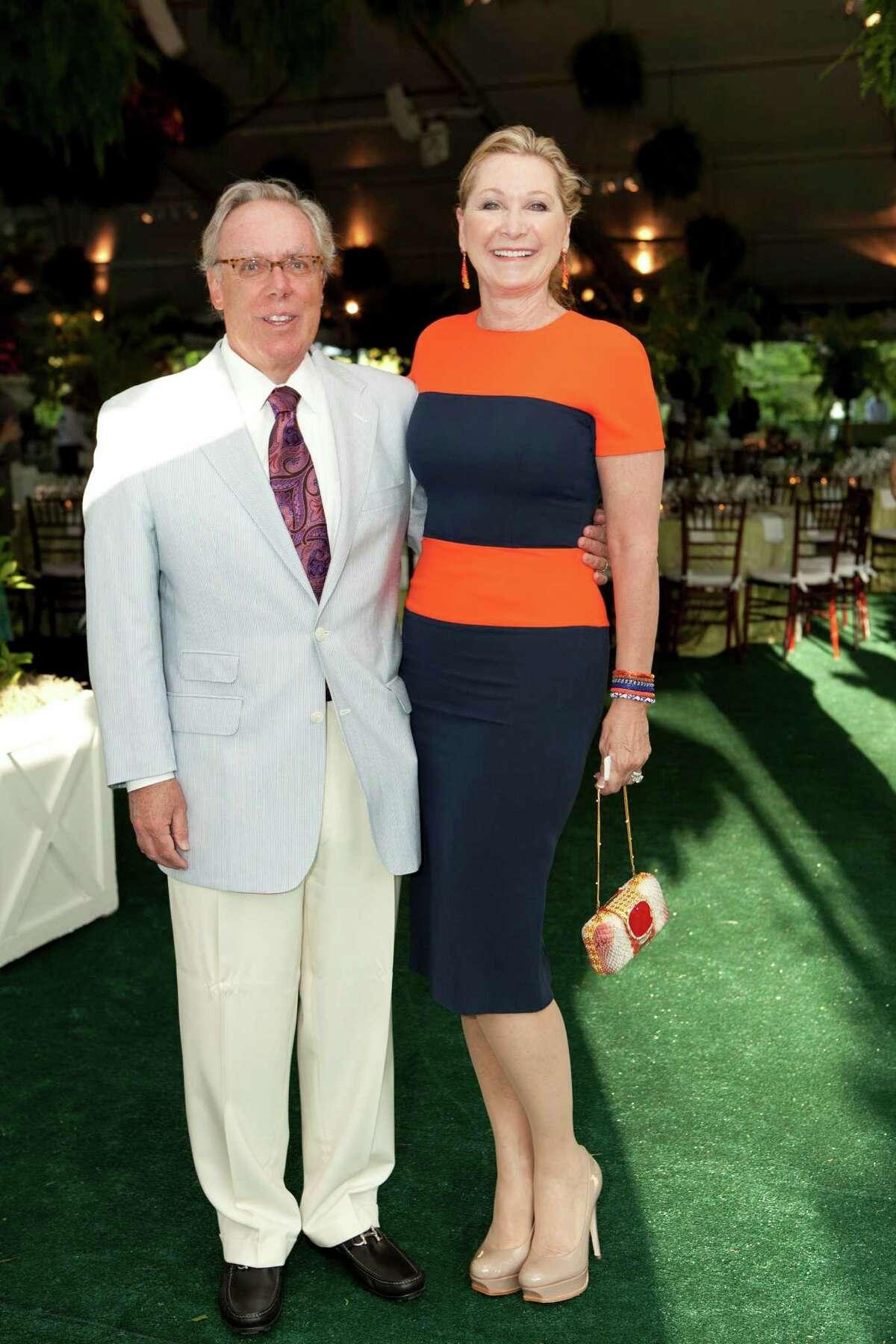 Michael and Carol Linn at the Bayou Bend Garden Party.