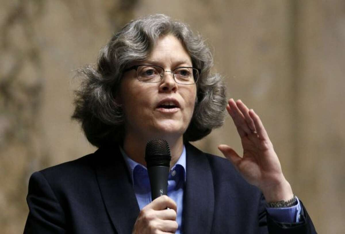 House Speaker Laurie Jinkins, D-Tacoma. She let the House vote this year on a comprehensive statewide sex health education program, for all of Washington's public schools. The legislation did not come to a vote under previous House Speaker Frank Chopp.