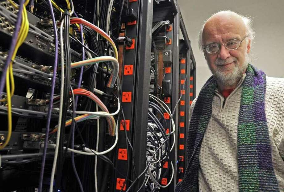 Johannes Goebel, director of EMPAC, stands in the control room of EMPAC in Troy, NY on March 4, 2009.  For Unwind story. (Lori Van Buren / Times Union) Photo: LORI VAN BUREN / 00002710A
