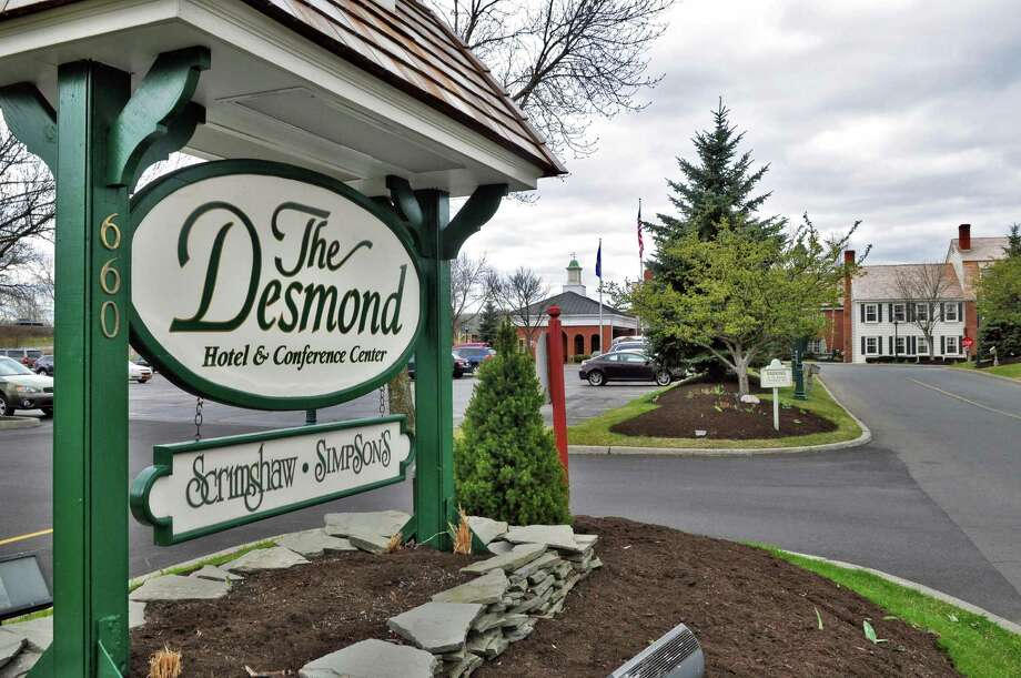 Entrance to the Desmond in Colonie Thursday April 5, 2012.   (John Carl D'Annibale / Times Union) Photo: John Carl D'Annibale