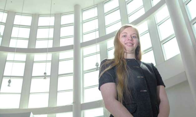 Sheila Smith, left, a UAlbany CNSE Nanoengineering sophomore student  poses for a photograph  at the CNSE campus on Monday, April 2, 2012 in Albany, NY.  Smith has received the Barry Goldwater scholarship for top science undergrad in country.   (Paul Buckowski / Times Union) Photo: Paul Buckowski