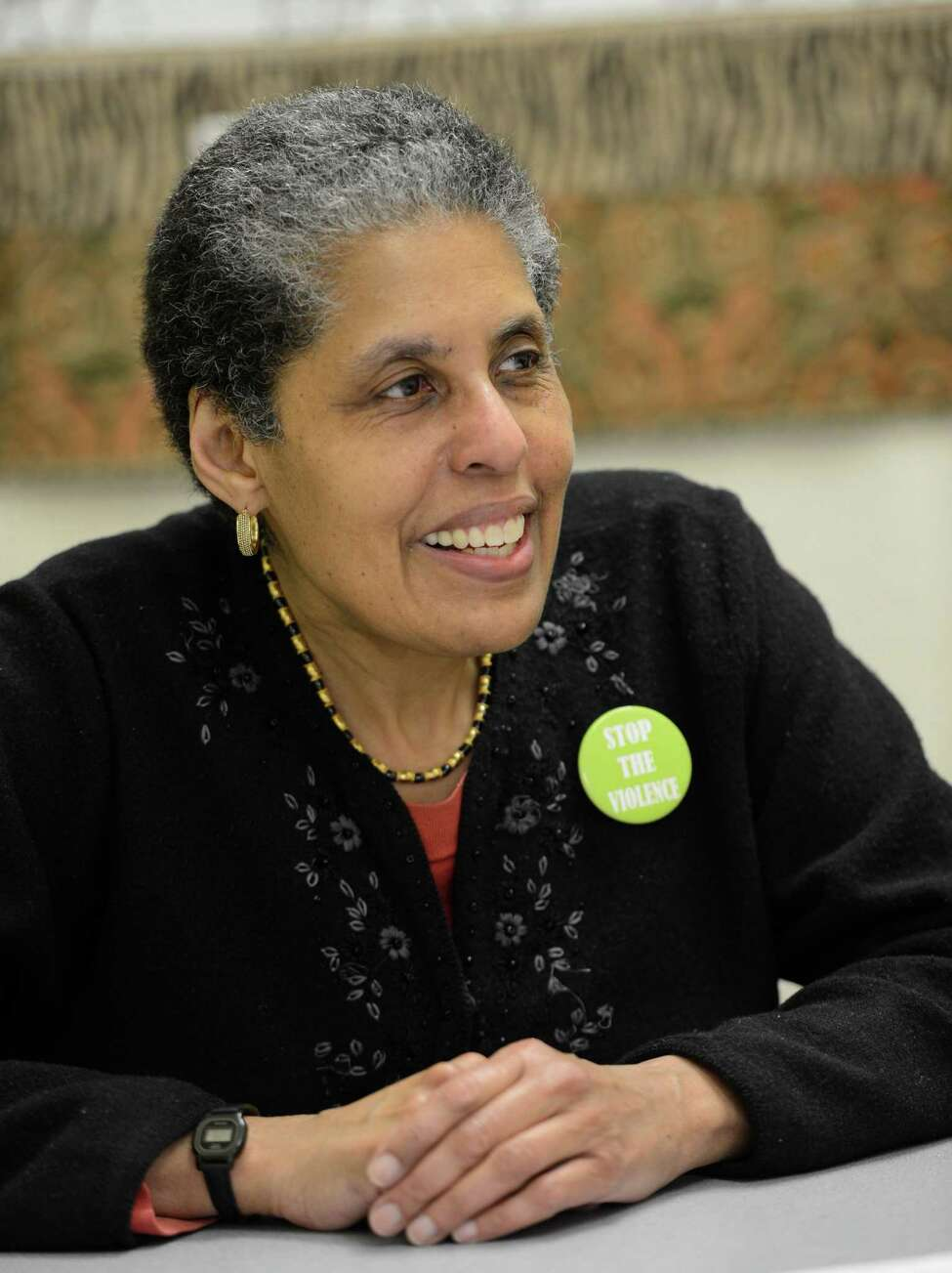 Barbara Smith, who is a University at Albany adjunct professor, independent editor/publisher and Common Council member spoke to the Times Union in her office in Albany, N.Y. April 3, 2012. Smith is included in a newly formed national Women of Distinction organization with other honorees that include Gloria Steinem, Oprah Winfrey and other pioneering women. (Skip Dickstein / Times Union)