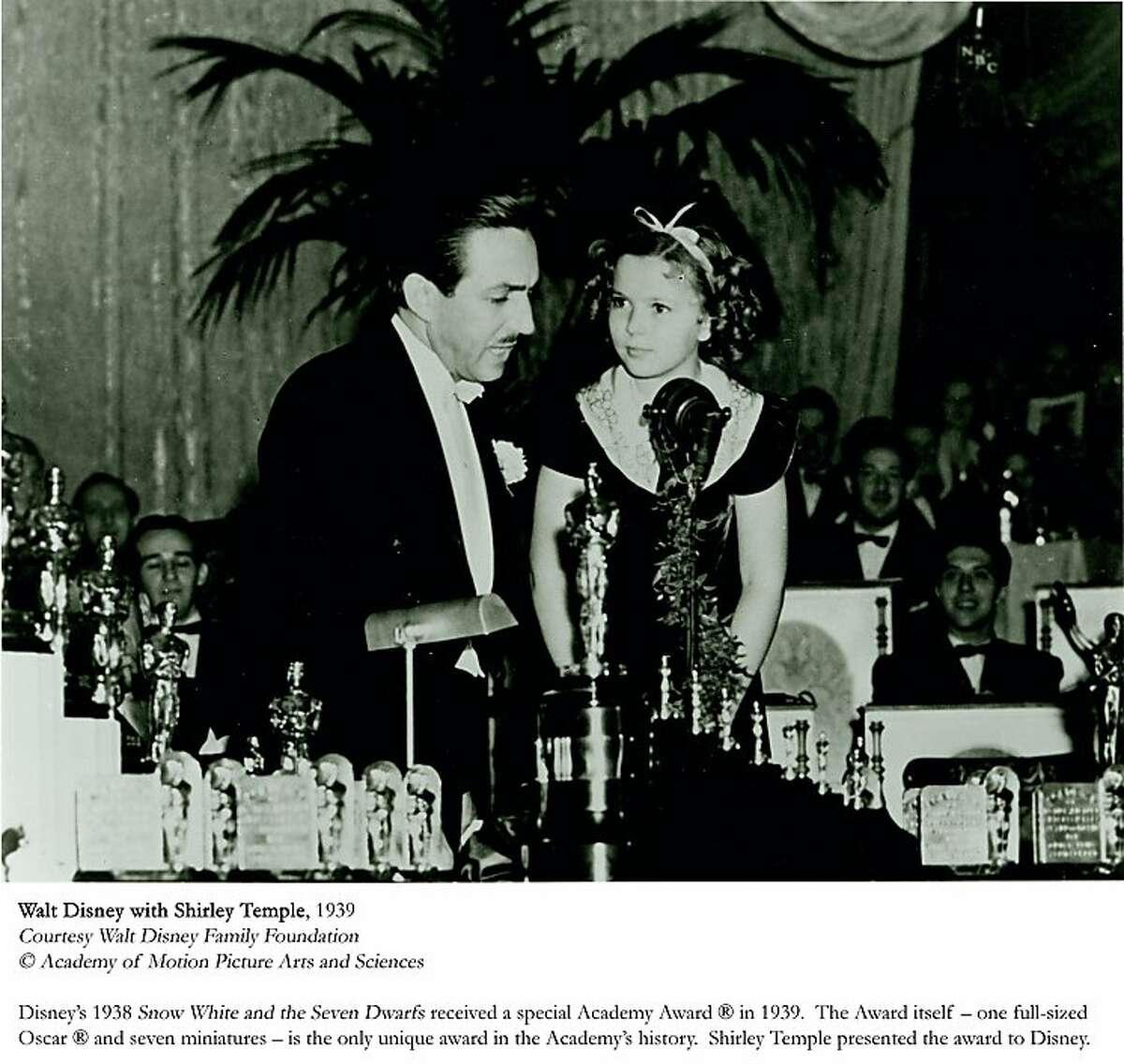 Walt Disney with Shirley Temple. Walt Disney Family Museum