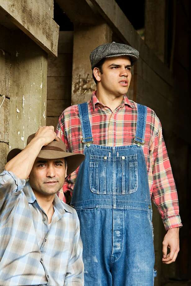 "Jos Viramontes as ""George"" and AJ Meijer as ""Lennie"" in OF MICE AND MEN at TheatreWorks. April 4 - 29, 2012 at the Mountain View Center for the Performing Arts. For tickets ($19-$69), call (650) 463-1960 or visit www.theatreworks.org. Photo: Tracy Martin"