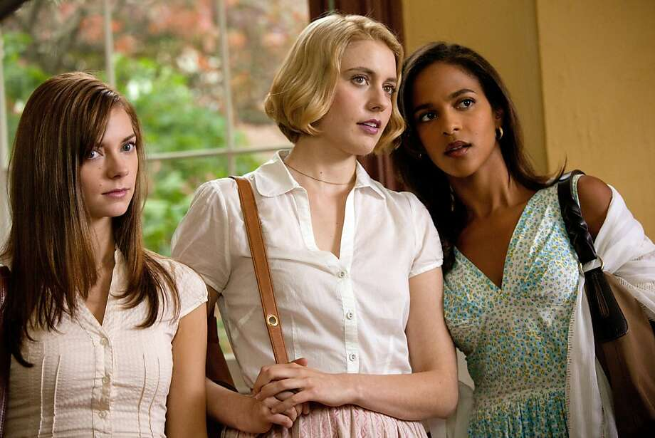 """Left to Right: Carrie MacLemore as Heather, Greta Gerwig as Violet and Megalyn Echikunwoke as Rose in """"Damsels in Distress,"""" about three women who set out to change the male domination on a college campus and rescue fellow students from depression, grunge and low standards.  D14_IMG_5685.jpg Photo: Sabrina Lantos, Sony Pictures Classics"""