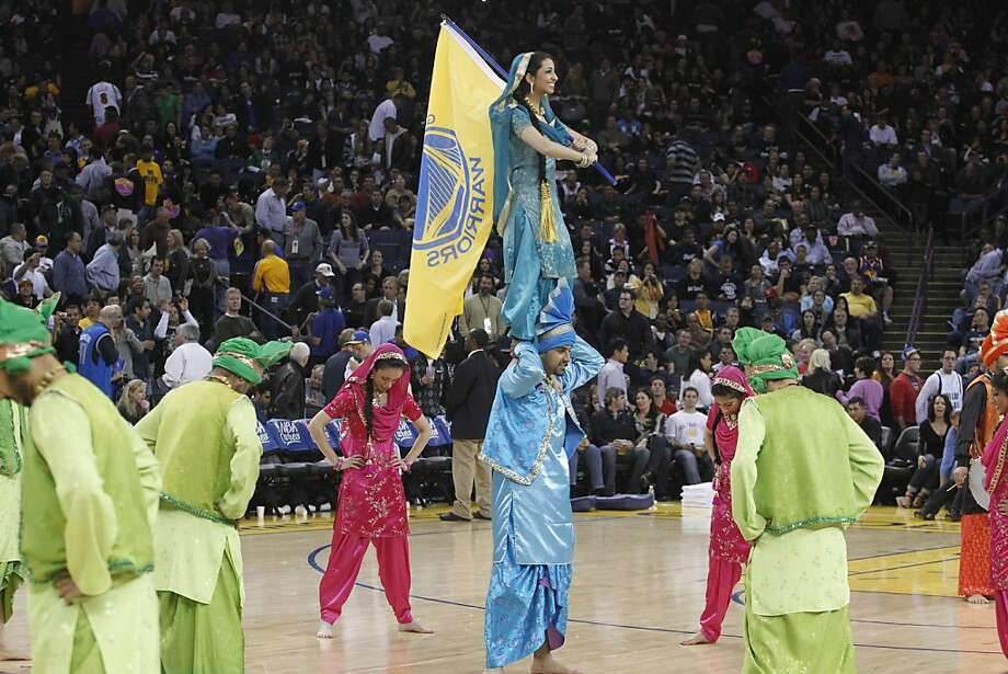 Bollywood Night is a theme night sponsored by the Oakland Warriors at the Oakland Coliseum, and has proven popular with fans. Vivek Ranadive, a tech executive, native of India and part owner of the team, started the themed night to celebrate the heritage of Indians in the Bay Area. Photo: Courtesey Oakland Warriors