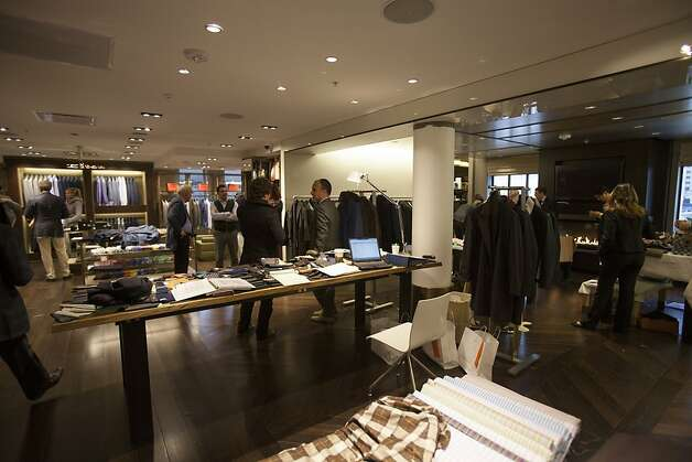 An interior view of the 7th floor Penthouse and Kiton shop during the Kiton Trunk Show at Wilkes Bashford in San Francisco, Calif. on Saturday, March 24, 2012. Photo: Stephen Lam, Special To The Chronicle