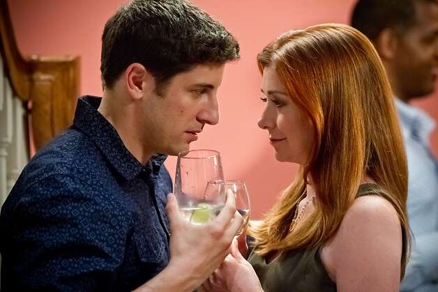 "Jim (JASON BIGGS) and Michelle (ALYSON HANNIGAN) find long overdue romance in ""American Reunion"". In the comedy, all the ""American Pie"" characters we met a little more than a decade ago return to East Great Falls for their high-school reunion. Photo: Hopper Stone, Universal Pictures"