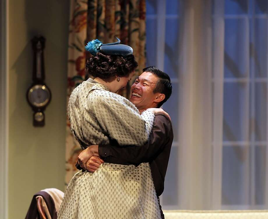ACT's production of Maple and Vine in San Francisco, Calif., features Emily Donahoe as Katha and Nelson Lee as Ryu. Photo: Carlos Avila Gonzalez, The Chronicle