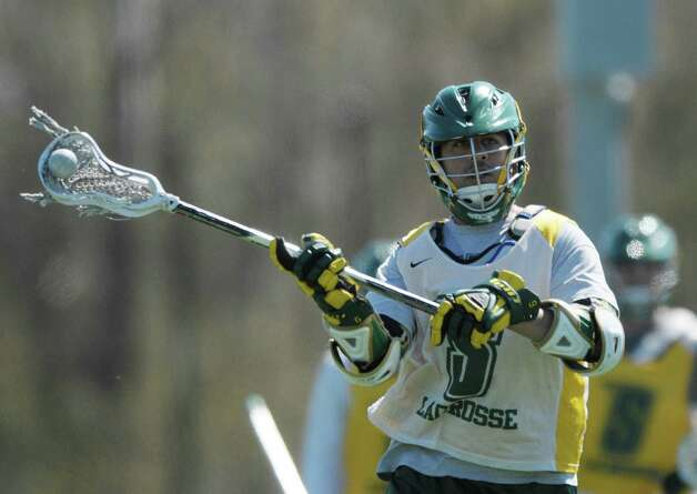 Siena senior lacrosse player Bryan Neufeld runs through drills during practice on Wednesday, April 4, 2012 in Loudonville, NY.  Neufeld recently scored his 200th career point.  (Paul Buckowski / Times Union) Photo: Paul Buckowski