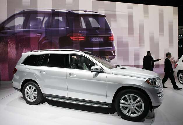 The 2013 Meredes-Benz GL is unveiled in a world premier, Wednesday, April 4, 2012 at the New York International Auto Show. (AP Photo/Mark Lennihan) Photo: Mark Lennihan, Associated Press
