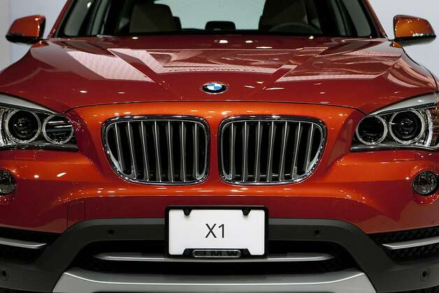 The Bayerische Motoren Werke AG (BMW) X1 vehicle is unveiled during a news conference at the New York International Auto Show in New York, U.S., on Wednesday, April 4, 2012. The 2012 New York Auto Show is open to the public April 6-15. Photographer: Scott Eells/Bloomberg Photo: Scott Eells, Bloomberg