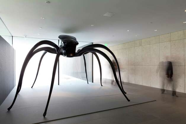 Mel Chin's 9-foot-tall spidery sculpture 'The Cabinet of craving' is on display at the new 39,000-square-foot Asia Society Texas Center. The center was designed by Japanese architect Yoshio Taniguchi. Photographed Wednesday morning March 21, 2012.  Nathan Lindstrom/Special to the Chronicle  2012 Nathan Lindstrom Photo: Nathan Lindstrom / ©2012 Nathan Lindstrom