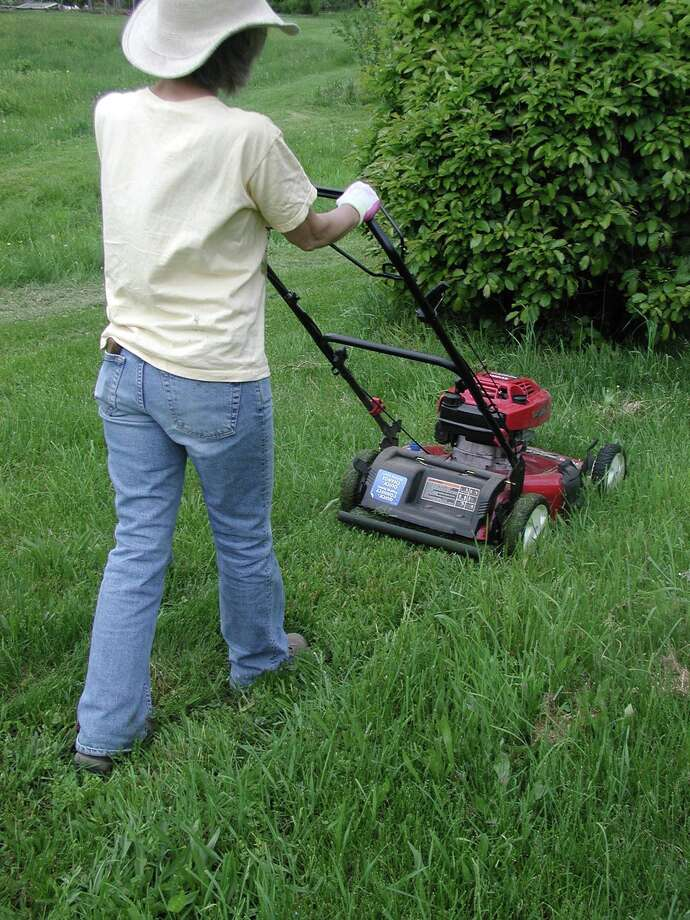 Use a mulch mower so grass clippings go back into the soil. Photo: Lee Reich, STR