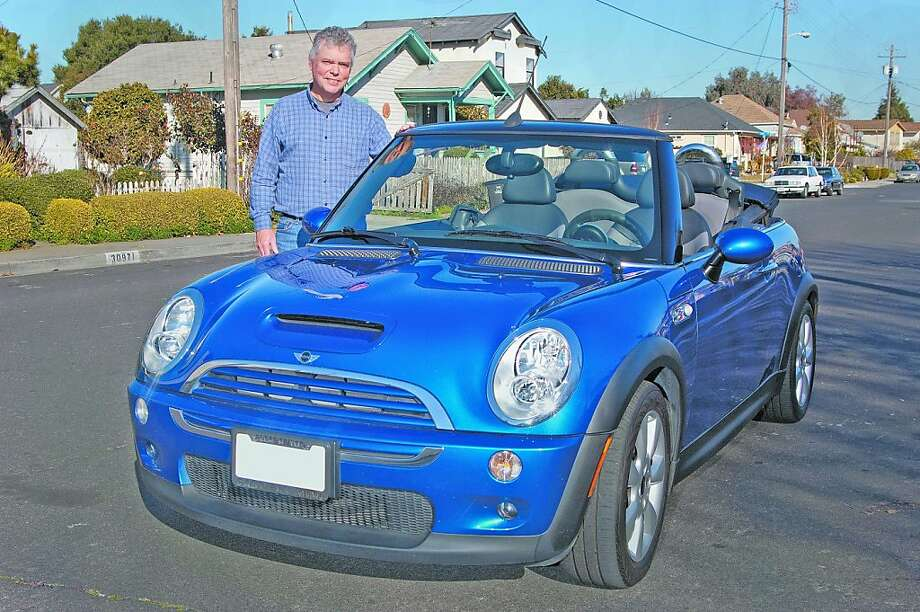 Kyle Smith worked in the specialty gas industry but is now a stay-at-home dad and actor living in Union City. He loves his Mini, especially on a sunny day with the roof down. Photo: Stephen Finerty, Photograph By Stephen Finerty