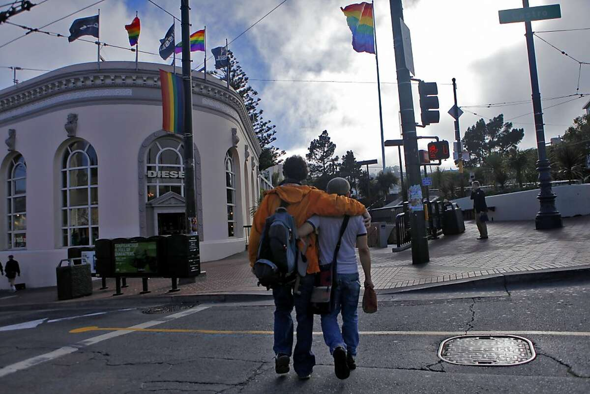 People walk through the Castro district Aug.16, 2010, in San Francisco.