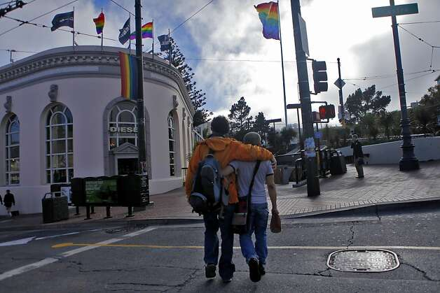 People walk through the Castro district Aug.16, 2010, in San Francisco. Photo: Lacy Atkins, The Chronicle