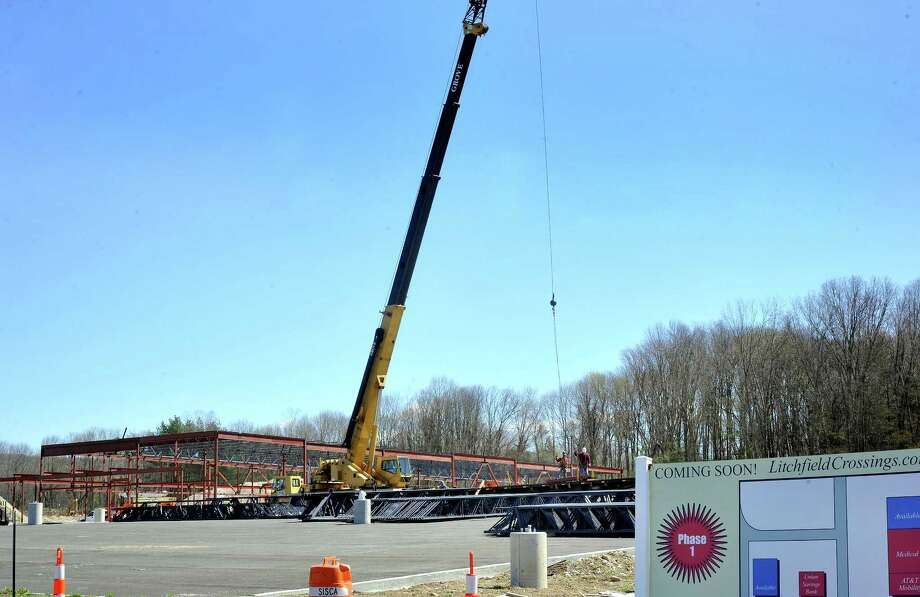 This is the construction site at Litchfield Crossings in New Milford Friday, April 6, 2012. Photo: Michael Duffy / The News-Times