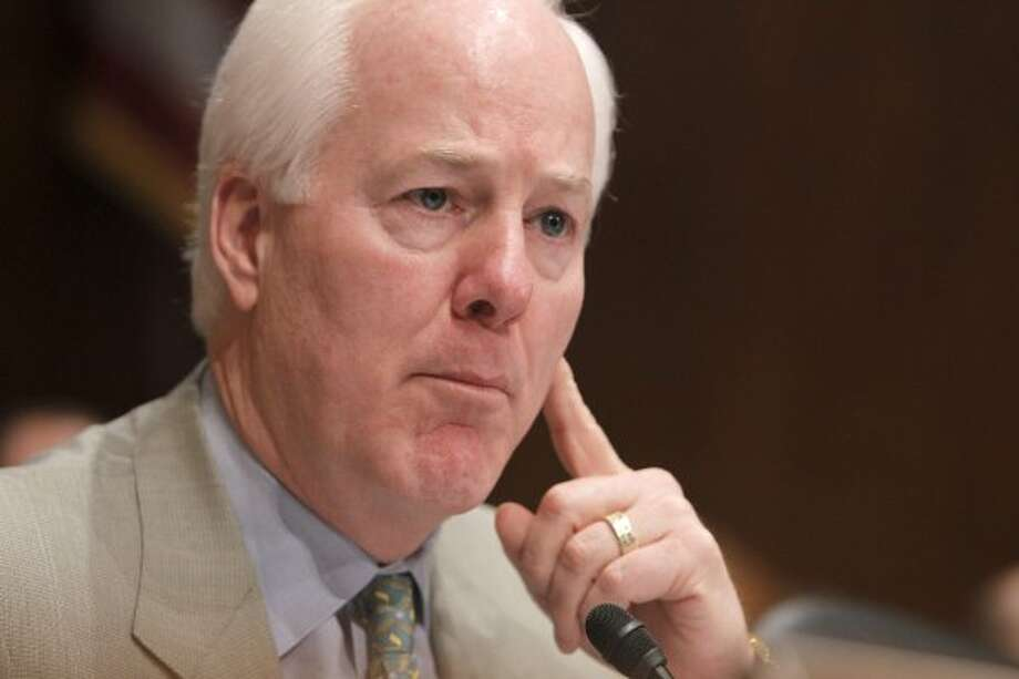 Sen. John Cornyn is seen on Capitol Hill in Washington on April 16, 2010  (Charles Dharapak / The Associated Press)