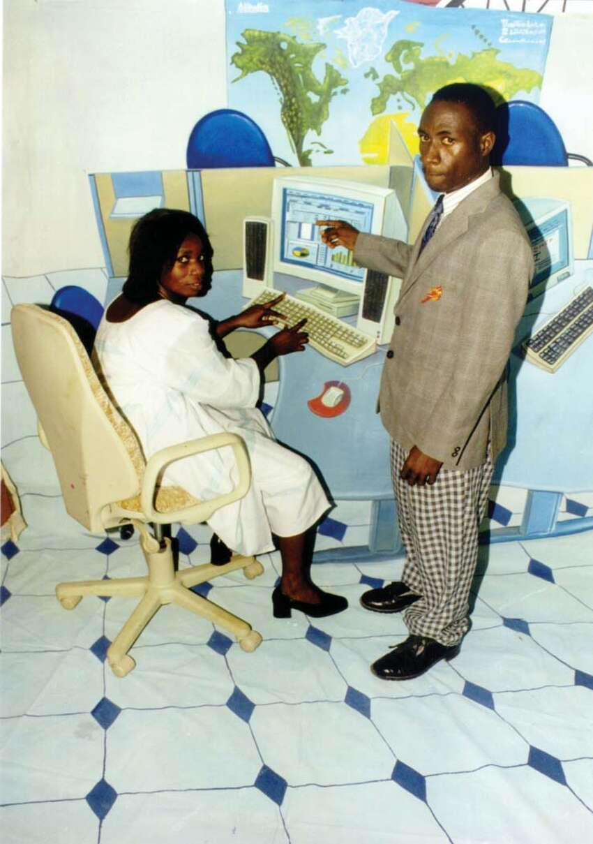 Philip Kwame Apagya Booming Internet 2 C-print 27 1/4 x 19 1/2 inches 2000 Courtesy of the artist and Jack Shainman Gallery, New York