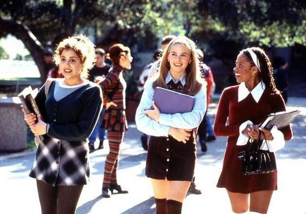 "Knee-high socks, minis and matching cardigans? Cher Horowitz may be ""Clueless,"" but she knows how to make preppy look fun. (ASSOCIATED PRESS)"